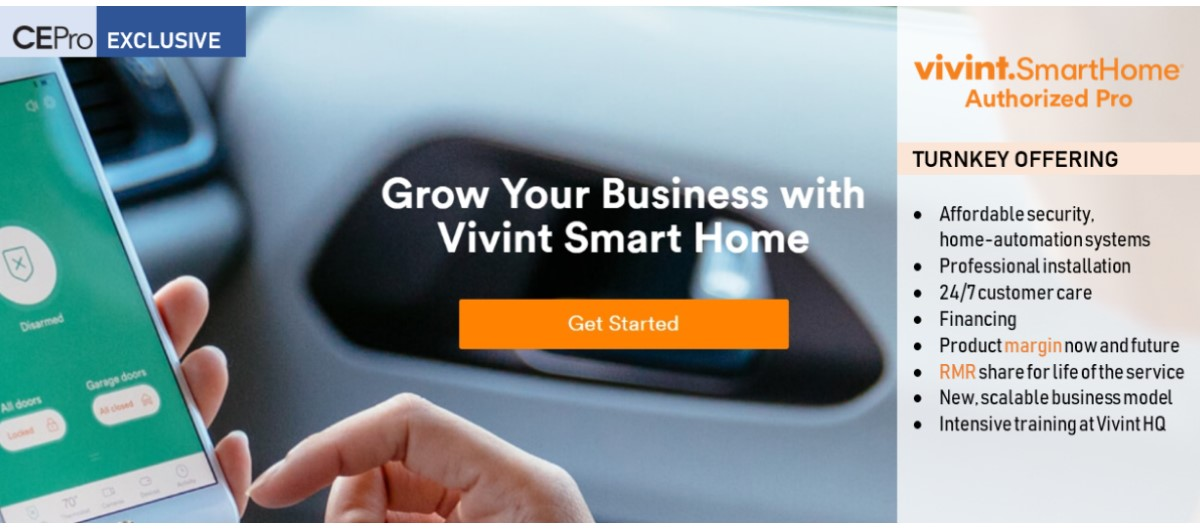 New Vivint Pro Program is 'Dream' RMR Opportunity for Home-Tech Channel